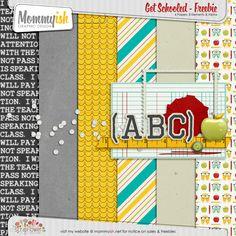 Get Schooled mini kit freebie from Mommyish Scrapbooking Freebies, Pocket Scrapbooking, Free Digital Scrapbooking, Digital Paper Free, Digital Papers, Printable Paper, Free Printable, Free Scrapbook Paper, Bright Horizons