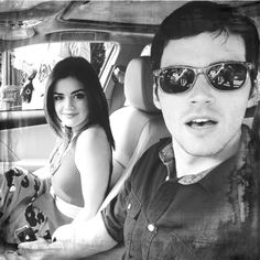 Lucy Hale and Ian Harding from pretty little liars