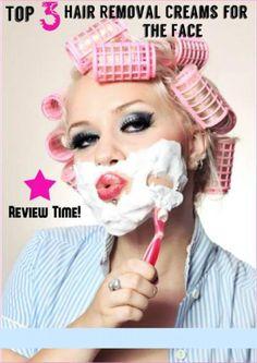 Facial Hair Removal Cream Reviews, Top 3 Picks to Eliminate Facial Hair. #facialhair #cream #review