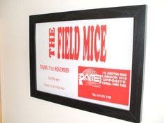 The Field Mice Gig Poster Print by indieprints on Etsy, $20.00