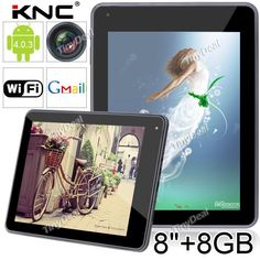 """(KNC) MD802 8"""" Capacitive Touch Android 4.0.3 OS Tablet PC with WiFi/Camera (CPU 1008.0MHZ / RAM 306.7MB / 8GB HD) L-80539"""