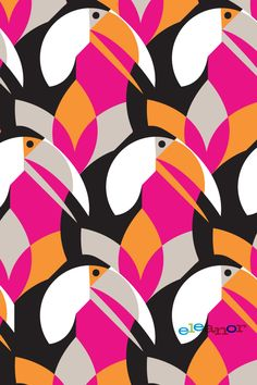 iphone-toucan by Eleanor Grosch. #pattern #illustration