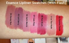 LittleMissSCB: Essence Lip Liners Review & Swatches