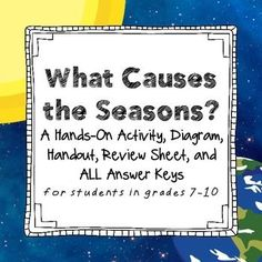 Teaching what causes the seasons to middle school students? Check out this one of a kind, hands on activity that will help your students truly understand WHY we have seasons. It& awesome. Seasons Activities, Science Activities For Kids, Hands On Activities, Weather Activities, Primary Science, Science Curriculum, Teaching Science, Earth Science Lessons, Earth And Space Science