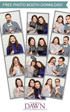 amp up your photo booth session with FREE printable props from invitations by dawn!