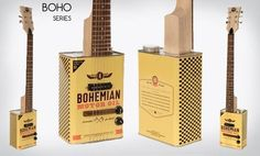 Georgia-based company Bohemian Guitars offers these cool oil can guitars — inspired by the resourcefully sort of re-purposed musical instruments that start Music Instruments Diy, Africa Craft, Guitar Diy, Forging Metal, Guitars For Sale, Musicals, Canning, Cool Stuff, Oil