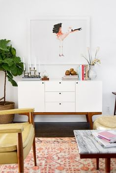 Living Room - Sideboard Cabinet - White Color - Home Decor - Design Trend