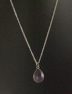 Items similar to Amethyst pendant with 925 Silver Chain on Etsy Amethyst Pendant, 925 Silver, Etsy Shop, Chain, Jewelry, Jewlery, Bijoux, Schmuck, Chains