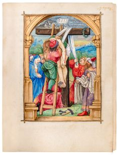Bright, colourful manuscript in German, written by the Nuremberg scribe IL and illuminated by Renaissance master Nicholas Glockendon, a friend of Albrecht Dürer who used Dürer's printed Small Passion series for inspiration.