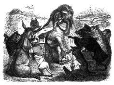 Anthropomorphisme : Les animaux malades de la peste, de Jean de la Fontaine, par Grandville. #animaux #fichepedaarto