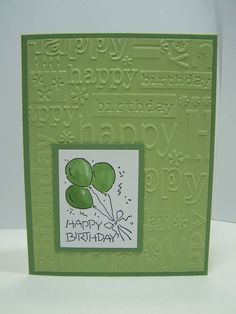 517 best cute handmade birthday cards images on pinterest in 2018 stampin up handmade greeting card birthday card masculine birthday card green and white embossed m4hsunfo