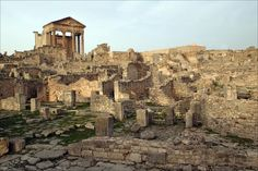 Roman City in Ruins. It has been abandoned since the 17 hundreds.