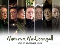 Harry Potter: Character photo panel for Minerva McGonagall (Maggie Smith), Hogwarts Head of Gryffindor House