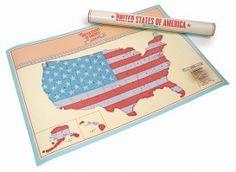 United States Of America Scratchmap. Je eigen persoonlijke kaart van Amerika! #wereldkaart #landkaart #usa #amerika #reiscadeau #cadeau #reizen #wereldreis
