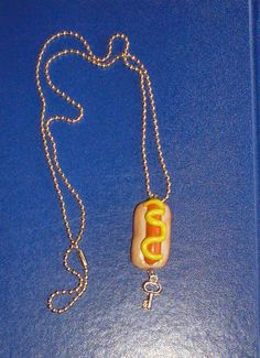 Hot dog necklace, Totaly handmade.