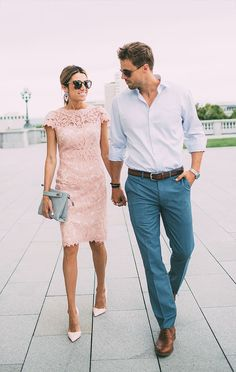 Pink lace dress. Need a pink, elegant dress for a dinner party in July!