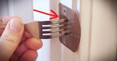 How to create a makeshift lock for your door.