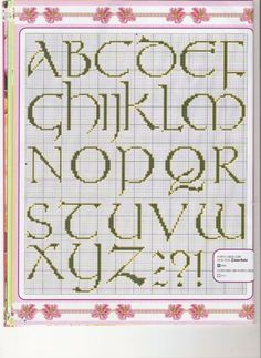 Cross-stitch Upper & Lower Case ABCs, part 1...    Gallery.ru / Фото #118 - Алфавит - anethka