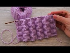 Knitting Videos, Sweater Knitting Patterns, Easy Knitting, Knit Patterns, Knitting Projects, Crochet Backpack Pattern, Crochet Stitches, Awesome, Knitted Baby Clothes