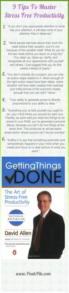 Daily Tips And Motivation | Getting Things Done- The Art of Stress-Free Productivity by David Allen
