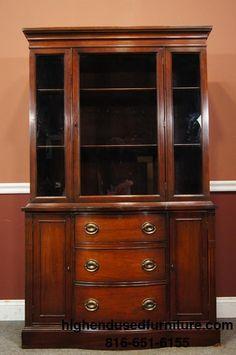 Duncan Phyfe China/Curio Cabinet Mahogany Breakfront Design ...