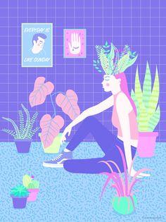 Everyday is like Sunday #illustration #plantslover #plants #Morrisey