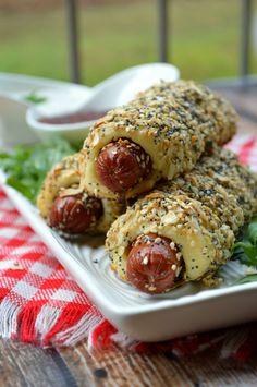 Low carb & keto friendly bagel dogs! Gluten & grain free!