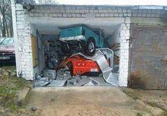 3d Garage door mural
