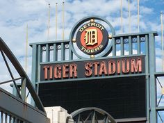 Tiger Stadium in Detroit, Michigan