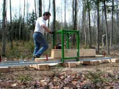 Ваша новая пилорама Мурка М2 для постройки дома pilam.ru - YouTube
