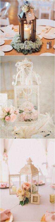 lantern vintage wedding centerpiece ideas