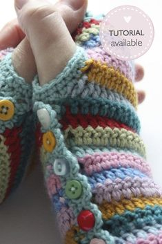 DIY Stripy Mitts-Coolest DIY Crochet Ideas