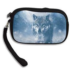Winter Wolf Women's Zipper Small Wallet Purse Porte-monnaie Clutch Cards Holder Wallet Purse Business Card Wallet   #like4like
