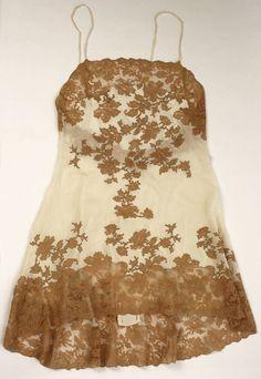 French Chemise - 1930 - Silk, Cotton - Amanda[s neglige