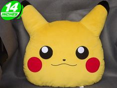 Pokemon: Almohada de Pikachu 2 Fleece Projects, Sewing Projects For Kids, Sewing For Kids, Cute Pillows, Kids Pillows, Animal Pillows, Pikachu, Mochila Pokemon, Pokemon Craft