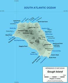 ASCENSION ISLAND Map St Helena Ascension Tristan Da Cunha - Saint helena map