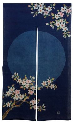 Japanese Noren Sakurabana W85cm (33.46in) X 150 (H) cm (Japon) 59in Allemagne)