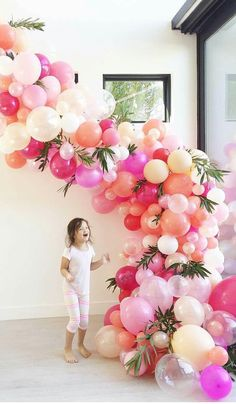 Balloon arch for birthday, baby shower, bridal shower decoration