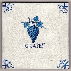 Delftware tile - The Grapes | Flickr - Photo Sharing!