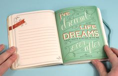 """I've dreamed in my life dreams that have stayed with me ever after."" — Emily Brontë • Today Is The Day pocket planner • Letterings and illustrations by Jessica Hische • from Buy Olympia"
