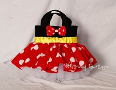 Red Minnie Mouse Tote Bag by WhitneyBoutique on Etsy, $8.95