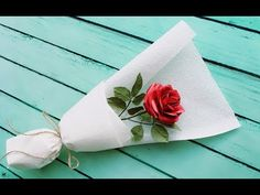 ABC TV, How To Make Paper Rose Bouquet Flower From Printer Paper - Craft Tutorial. Single Flower Bouquet, Origami Flower Bouquet, Diy Bouquet, Rose Bouquet, Wedding Bouquet, How To Wrap Flowers, Diy Flowers, Felt Flowers, Send Roses