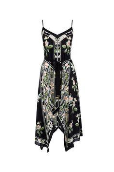 CHELSEA SILK FLORAL DRESS   Oasis