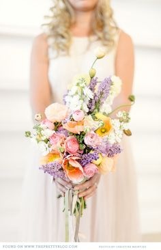 This #wedding bouquet is perfect for spring! From http://theprettyblog.com/2013/01/floral-table-decor-and-couple-shoot/  Photo Credit: http://christinemeintjes.co.za/  Florals by http://aartsappel.co.za/