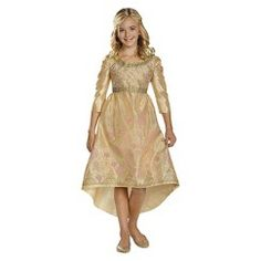 Girl's Maleficent Aurora Coronation Gown Costume Medium