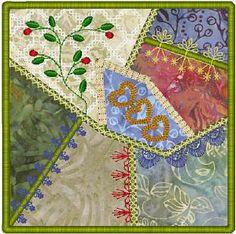 Embellished Crazy Quilt Blocks Part 1 - Molly Mine | OregonPatchWorks