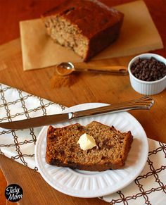 Best Mom in the World Banana Bread recipe. with chocolate chips and cinnamon!
