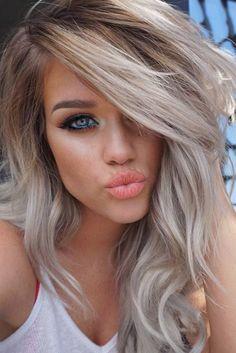 New Hair Color Blonde Ash Balayage Make Up Ideas Hair Color And Cut, New Hair Colors, Corte Y Color, Hair Dos, Gorgeous Hair, Beautiful Eyes, Pretty Hairstyles, Hair Hacks, Hair Trends