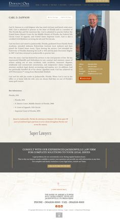 Attorney biography, legal web design, law firm web design | PaperStreet