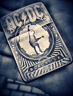 "AC/DC ""Black Ice"" Smoking Is Bad, Cool Lighters, Light Em Up, Zippo Lighter, Birthday Stuff, Black Sabbath, Def Leppard, Band Shirts, Flasks"